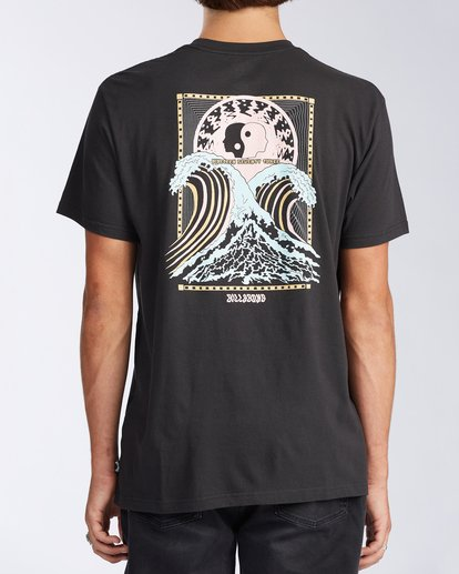 2 Cosmic Waves Short Sleeve T-Shirt Black ABYZT00164 Billabong