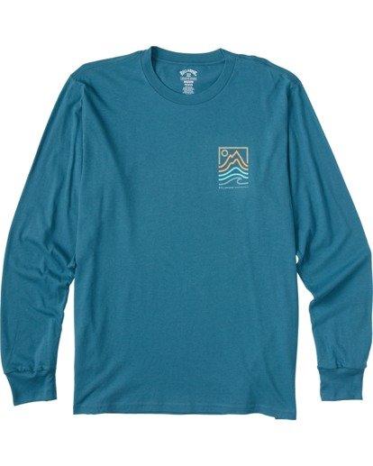 3 Peak Long Sleeve T-Shirt Blue ABYZT00187 Billabong