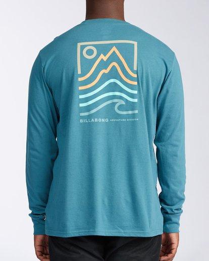 2 Peak Long Sleeve T-Shirt Blue ABYZT00187 Billabong