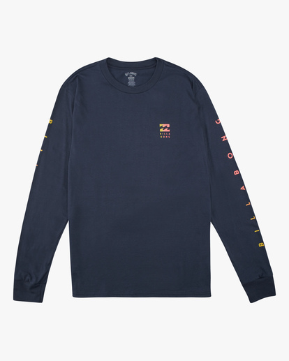 4 Unity Long Sleeve T-Shirt Blue ABYZT00190 Billabong