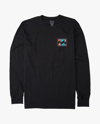 0 Crayon Wave Long Sleeve T-Shirt Black ABYZT00191 Billabong