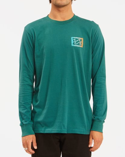 0 Crayon Wave Long Sleeve T-Shirt Orange ABYZT00191 Billabong
