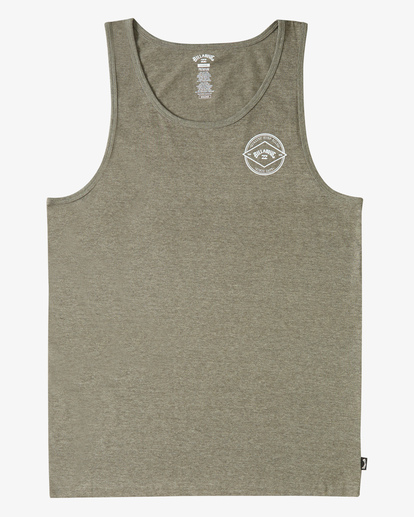 3 Rotor Arch Tank Top Green ABYZT00196 Billabong