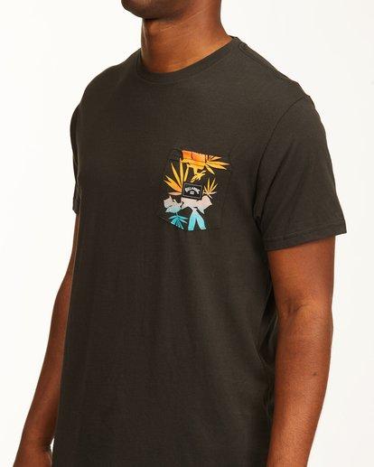 3 Team Pocket T-Shirt Black ABYZT00198 Billabong