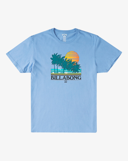4 Club Tropix Short Sleeve Wave Washed T-Shirt Blue ABYZT00216 Billabong