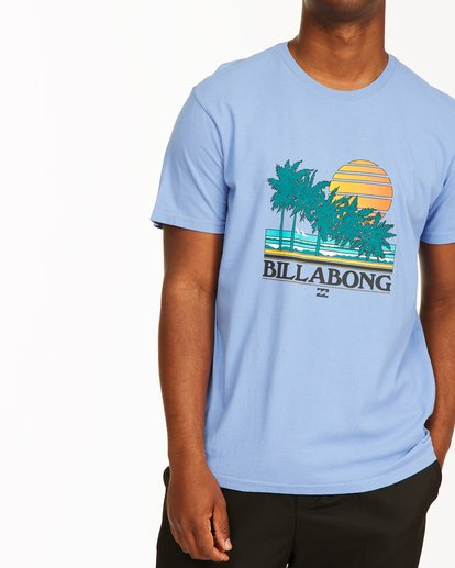 3 Club Tropix Short Sleeve Wave Washed T-Shirt Blue ABYZT00216 Billabong