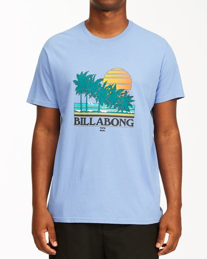 0 Club Tropix Short Sleeve Wave Washed T-Shirt Blue ABYZT00216 Billabong