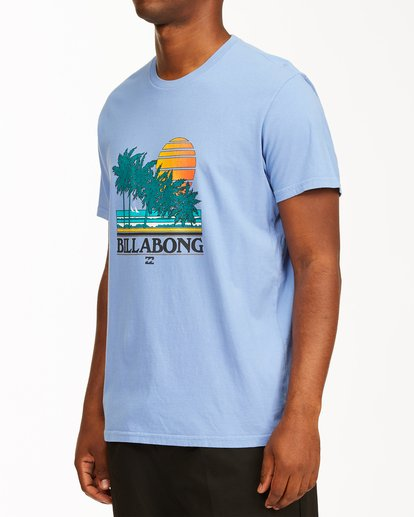 1 Club Tropix Short Sleeve Wave Washed T-Shirt Blue ABYZT00216 Billabong