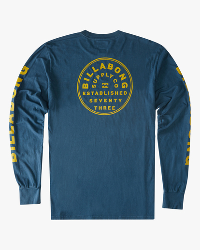 6 Harbor Long Sleeve Wave Washed T-Shirt Blue ABYZT00221 Billabong