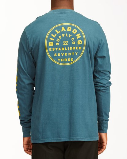 3 Harbor Long Sleeve Wave Washed T-Shirt Blue ABYZT00221 Billabong