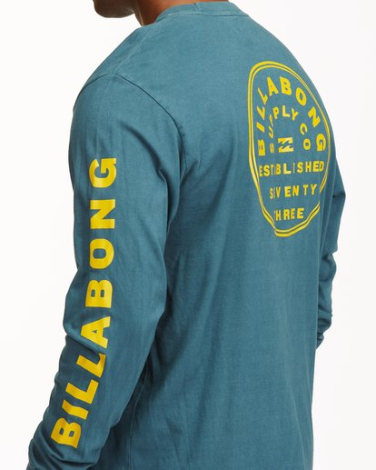 4 Harbor Long Sleeve Wave Washed T-Shirt Blue ABYZT00221 Billabong