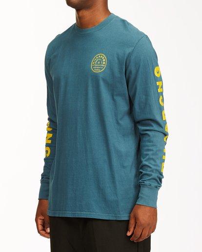 1 Harbor Long Sleeve Wave Washed T-Shirt Blue ABYZT00221 Billabong