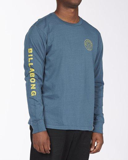 2 Harbor Long Sleeve Wave Washed T-Shirt Blue ABYZT00221 Billabong