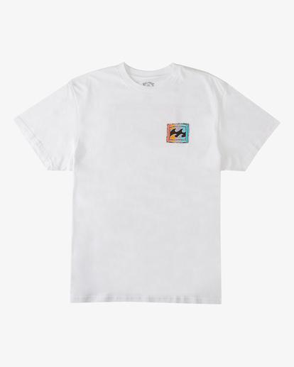 5 Crayon Wave Short Sleeve T-Shirt White ABYZT00235 Billabong