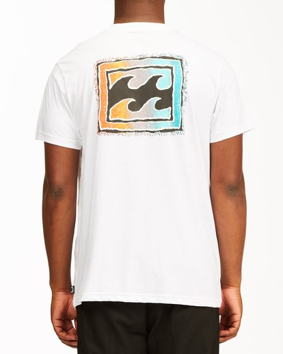 2 Crayon Wave Short Sleeve T-Shirt White ABYZT00235 Billabong