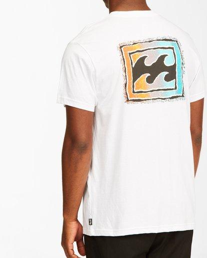 3 Crayon Wave Short Sleeve T-Shirt White ABYZT00235 Billabong