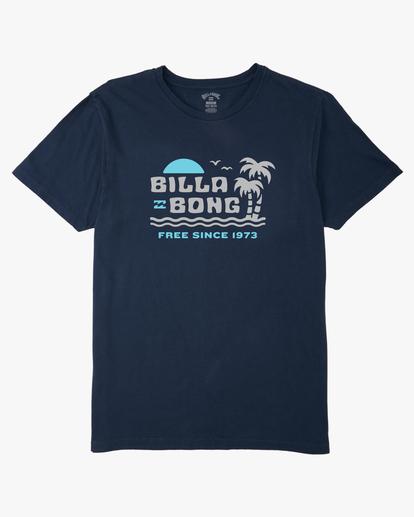 4 Social Lounge Short Sleeve T-Shirt Blue ABYZT00237 Billabong