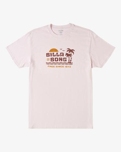 4 Social Lounge Short Sleeve T-Shirt Purple ABYZT00237 Billabong