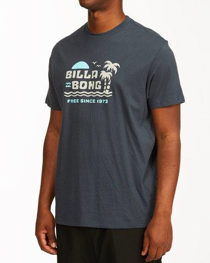 3 Social Lounge Short Sleeve T-Shirt Blue ABYZT00237 Billabong