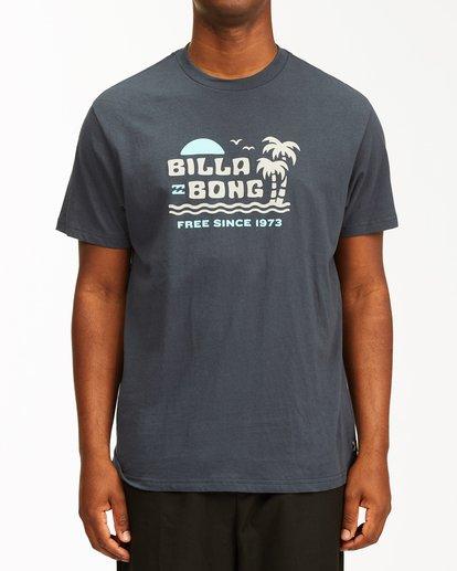 0 Social Lounge Short Sleeve T-Shirt Blue ABYZT00237 Billabong