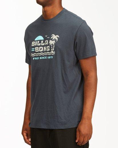 1 Social Lounge Short Sleeve T-Shirt Blue ABYZT00237 Billabong