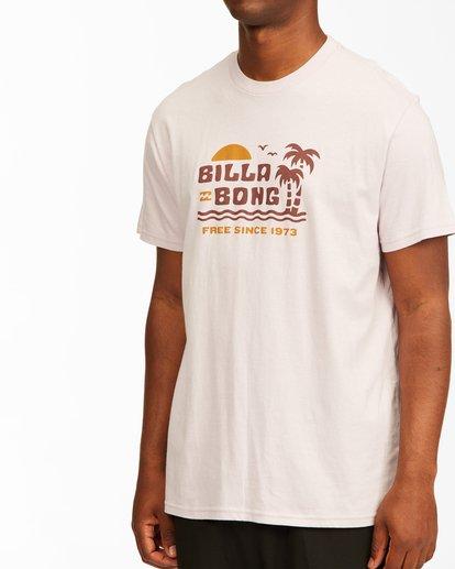 3 Social Lounge Short Sleeve T-Shirt Purple ABYZT00237 Billabong