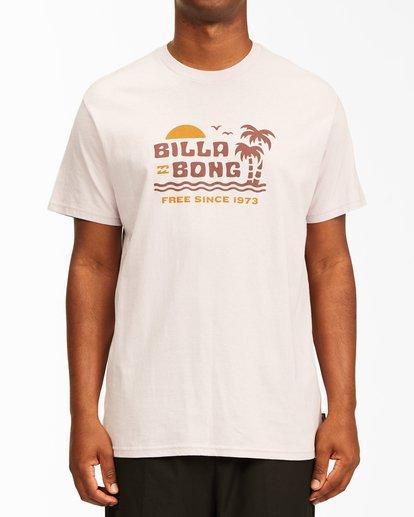 0 Social Lounge Short Sleeve T-Shirt Purple ABYZT00237 Billabong