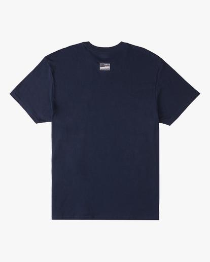 1 Surfrider Waves Short Sleeve T-Shirt Blue ABYZT00301 Billabong