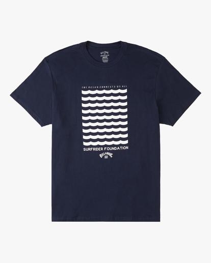 0 Surfrider Waves Short Sleeve T-Shirt Blue ABYZT00301 Billabong