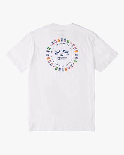 1 Surfrider World Flag Short Sleeve T-Shirt White ABYZT00302 Billabong
