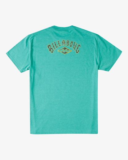 4 Currents Arch T-Shirt Green ABYZT00305 Billabong