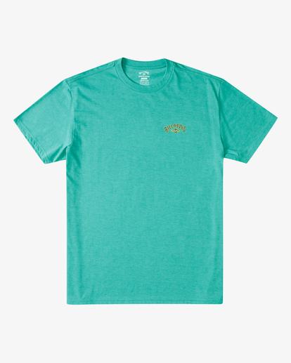 3 Currents Arch T-Shirt Green ABYZT00305 Billabong