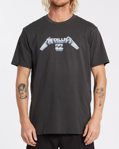 0 Metallica Master of Puppets T-Shirt Black ABYZT00320 Billabong