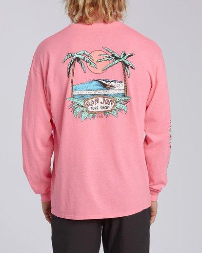 2 Rio de Janeiro Dawn Patrol Short Sleeve T-Shirt Pink ABYZT00331 Billabong