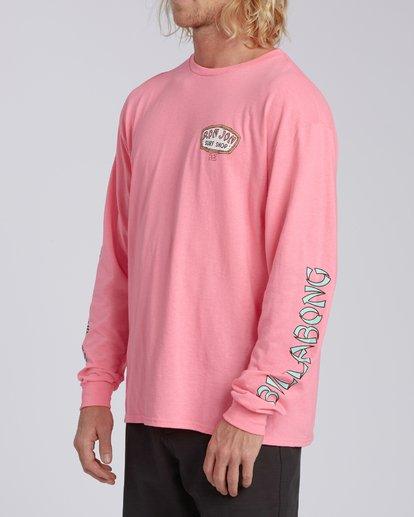 1 Rio de Janeiro Dawn Patrol Short Sleeve T-Shirt Pink ABYZT00331 Billabong
