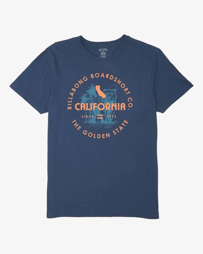 3 Seal California Short Sleeve T-Shirt Blue ABYZT00348 Billabong