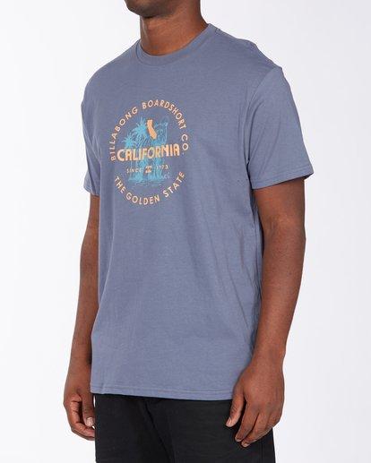 1 Seal California Short Sleeve T-Shirt Blue ABYZT00348 Billabong