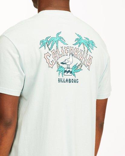 3 Arch California Short Sleeve T-Shirt Blue ABYZT00349 Billabong