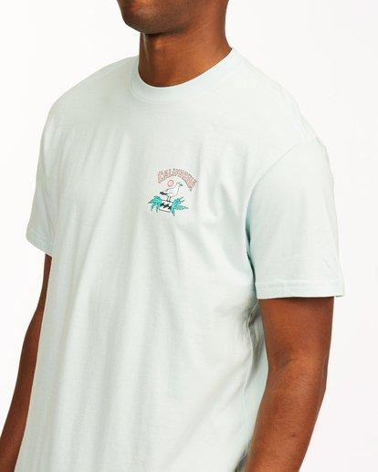4 Arch California Short Sleeve T-Shirt Blue ABYZT00349 Billabong