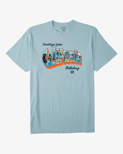 3 Greetings California Short Sleeve T-Shirt Blue ABYZT00351 Billabong