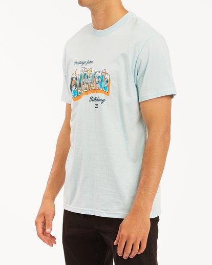 1 Greetings California Short Sleeve T-Shirt Blue ABYZT00351 Billabong