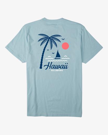 4 Daysailor Hawaii Short Sleeve T-Shirt Blue ABYZT00355 Billabong
