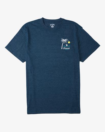 3 Daysailor Hawaii Short Sleeve T-Shirt Blue ABYZT00355 Billabong
