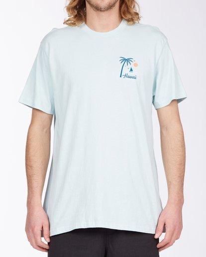 0 Daysailor Hawaii Short Sleeve T-Shirt Blue ABYZT00355 Billabong