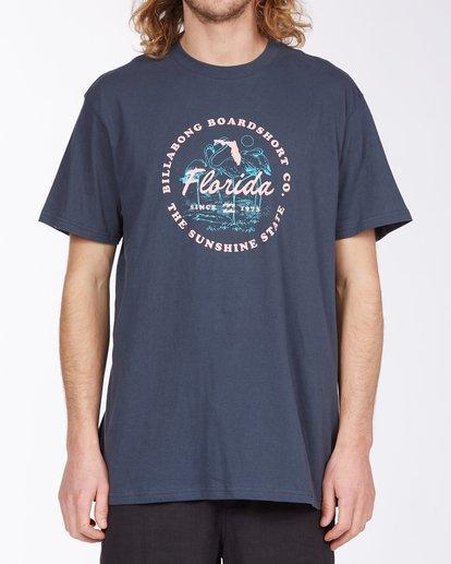 0 Seal Florida Short Sleeve T-Shirt Blue ABYZT00359 Billabong