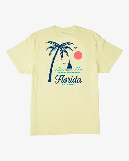 4 Daysailor Florida Short Sleeve T-Shirt Yellow ABYZT00361 Billabong