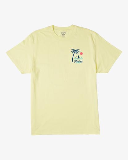 3 Daysailor Florida Short Sleeve T-Shirt Yellow ABYZT00361 Billabong