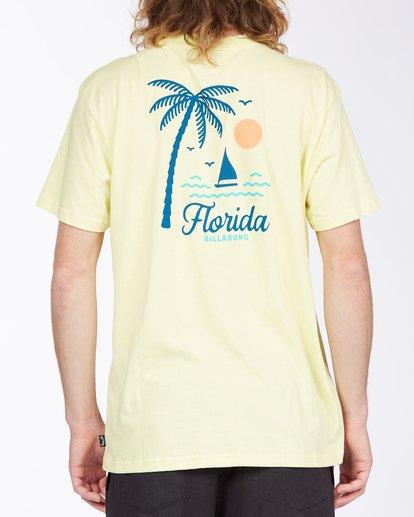 2 Daysailor Florida Short Sleeve T-Shirt Yellow ABYZT00361 Billabong