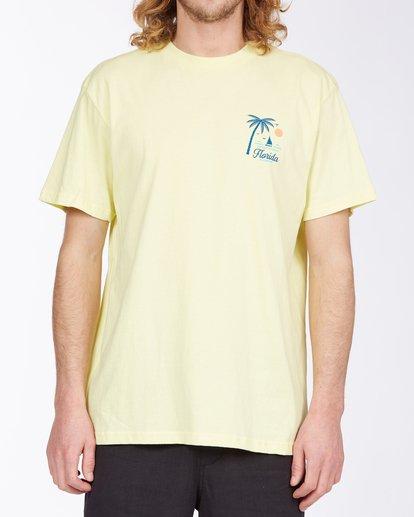 0 Daysailor Florida Short Sleeve T-Shirt Yellow ABYZT00361 Billabong