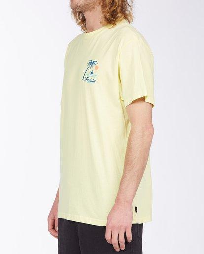 1 Daysailor Florida Short Sleeve T-Shirt Yellow ABYZT00361 Billabong
